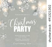 merry christmas party... | Shutterstock .eps vector #491321302
