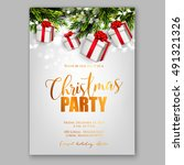 merry christmas party... | Shutterstock .eps vector #491321326