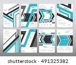 vector design for cover report... | Shutterstock .eps vector #491325382