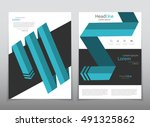 vector design for cover report... | Shutterstock .eps vector #491325862