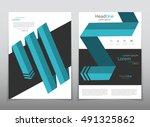 vector design for cover report... | Shutterstock .eps vector #491325862