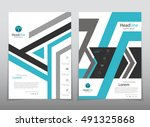 vector design for cover report... | Shutterstock .eps vector #491325868