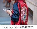 milan   september 22  woman... | Shutterstock . vector #491329198
