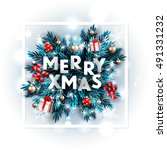 merry christmas party... | Shutterstock .eps vector #491331232