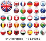 set of flags. glossy buttons.... | Shutterstock .eps vector #49134061