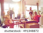 business  startup and office... | Shutterstock . vector #491348872
