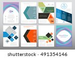 cover report annual   Shutterstock .eps vector #491354146