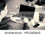 ladder of success | Shutterstock . vector #491360665