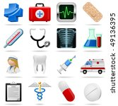 medical icons and symbols... | Shutterstock .eps vector #49136395