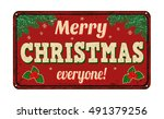 merry christmas everyone ... | Shutterstock .eps vector #491379256