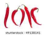 red hot chili peppers   Shutterstock . vector #49138141