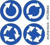recycle symbol set. vector set. | Shutterstock .eps vector #49138666