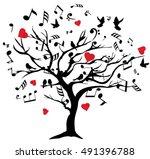 vector illustration of tree... | Shutterstock .eps vector #491396788