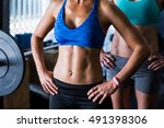 midsection of female friends... | Shutterstock . vector #491398306