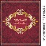 vintage  background. | Shutterstock .eps vector #49140283
