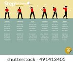 beautiful info graphic flat... | Shutterstock .eps vector #491413405