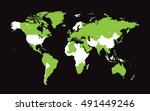 world map with countries flat...   Shutterstock .eps vector #491449246