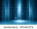 futuristic technology  binary... | Shutterstock . vector #491461576