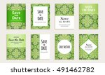 save the date. set of cards... | Shutterstock .eps vector #491462782