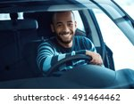 driving gets him so excited.... | Shutterstock . vector #491464462