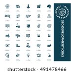 seo development icon set vector | Shutterstock .eps vector #491478466