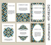 set of business cards. template ...   Shutterstock .eps vector #491481292