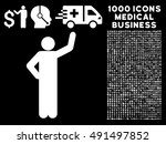 assurance pose icon with 1000... | Shutterstock .eps vector #491497852