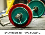 sports bar on wood floor for... | Shutterstock . vector #491500042