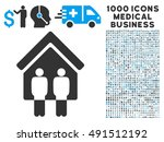 living persons icon with 1000... | Shutterstock . vector #491512192