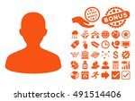 user pictograph with bonus... | Shutterstock .eps vector #491514406