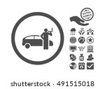 smoking taxi driver pictograph... | Shutterstock .eps vector #491515018