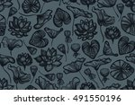 Seamless Pattern With Lotus...
