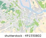 vector city map of gdansk ... | Shutterstock .eps vector #491550802