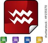 aquarius zodiac symbol   Shutterstock .eps vector #49155370