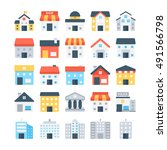 building colored vector icons | Shutterstock .eps vector #491566798