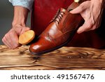 Shoes Master  Man  Polishing...