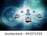 computer network 3d rendering | Shutterstock . vector #491571535
