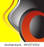 vector clean wave lines... | Shutterstock .eps vector #491571922