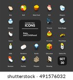 color icons set in flat... | Shutterstock .eps vector #491576032