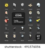 color icons set in flat... | Shutterstock .eps vector #491576056