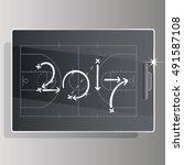 basketball strategy goal 2017... | Shutterstock .eps vector #491587108