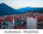scenic cityview at mountain... | Shutterstock . vector #491603422