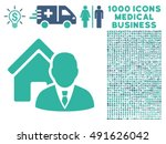 realtor icon with 1000 medical...   Shutterstock .eps vector #491626042
