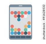 mobile game vector icon | Shutterstock .eps vector #491628532