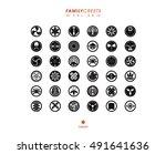 japanese family crest set vol.9 | Shutterstock .eps vector #491641636