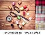 items for sewing or diy | Shutterstock . vector #491641966