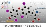 3d illustration of thyroxine... | Shutterstock . vector #491657878