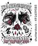 hardcore show vector poster... | Shutterstock .eps vector #491659585