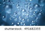 abstract molecule background  ...   Shutterstock . vector #491682355
