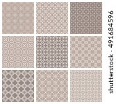 seamless geometric line... | Shutterstock .eps vector #491684596